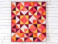 Stitch radiant warmth into your next quilt with this precut-friendly top.