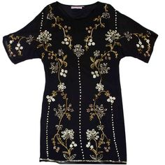 Rebecca Thompson - Hand Beaded Silk Flower Dress   Halcyon State via Polyvore