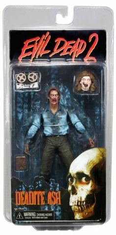 "NECA Evil Dead 2 Action Figure Deadite Ash by NECA. $19.93. Evil Dead 2: Deadite Ash 7"" Action Figure. One of the horror greats, Evil Dead 2, a true cult classic, celebrates its 25th Anniversary this year and for the first time ever - its own toy line. Series 1 includes two versions of the beloved character Ash. Deadite Ash has over 20 points of articulation and includes tape deck, necronomicon book, and Lindas severed head accessories. Farewell to Arms Ash ha..."