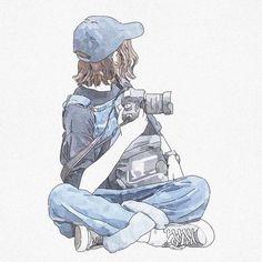 Cool Anime Girl, Anime Art Girl, Anime Girl Drawings, Cute Drawings, Art And Illustration, Aesthetic Art, Aesthetic Anime, Wie Zeichnet Man Manga, Cartoon Kunst