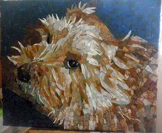 glass mosaic of my best friend, dog portrait
