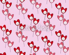 Happy Hearts designed by Shazia Ll, vector download available on patterndesigns.com Vector Pattern, Cute Designs, Pastel Colors, Surface Design, Blossoms, Special Day, Hearts, Patterns, Happy
