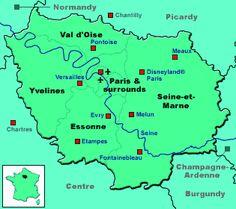 map of Isle-de-France