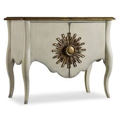 Hooker Furniture 638-85158 Melange Beaumarchais Chest in White/Cream/Beige