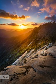 ~~Moro Rock | the setting sun at Sequoia National Park, California | by Michael T. Lim~~