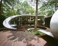 Japanese architects ARTechnic have completed Shell, a holiday villa in Karuizawa, Japan.
