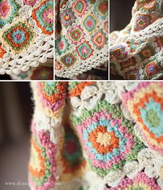 Crochet inspiration - lovely colors and story behind the making