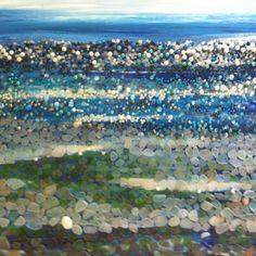 wow. Sea glass art