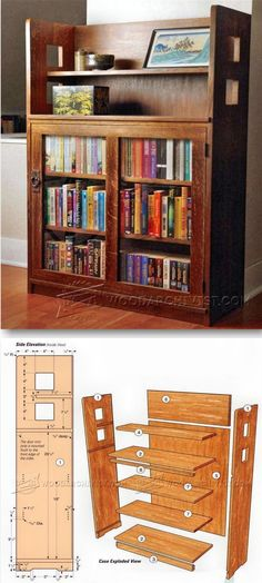 Bookcase Plans - Furniture Plans and Projects | WoodArchivist.com