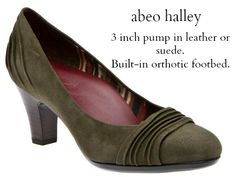 ed9a74fe23 Abeo Halley- a 3 inch pump with built-in orthotic with arch support.
