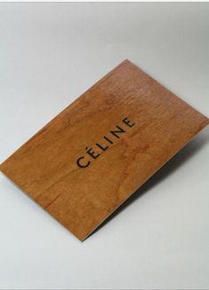 Celine wooden business card