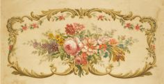 The Painted Room: French Aubusson Tapestry Paintings Decoupage, Mural Art, Rose Design, Art Floral, Vintage Roses, Oeuvre D'art, Vintage Prints, Dollhouse Miniatures, Art Deco
