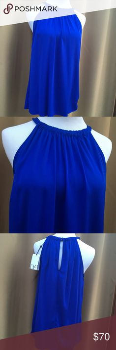 DIANE von FURSTENBERG DIANE Von FURSTENBERG  blue halter top with a Key hole back. Very beautiful. Diane von Furstenberg Tops Blouses