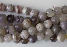 Botswana Agate Beads 8mm Round