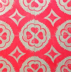 Quite exciting wallpaper 'Timber Tiles' - Dahlia pink Bonnie and Neil