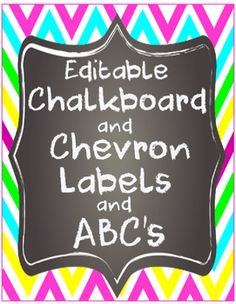 Editable Chevron Chalk Labels