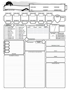 D&D 5e Character sheet - Dungeon Masters Guild | Dungeon Masters Guild