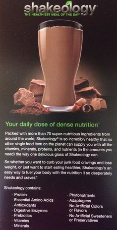 Your daily dose of dense nutrition!  www.shakeology.com/agozon