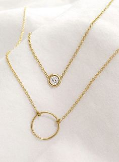 14k solid gold + diamonds (without the retail markups) / Vrai & Oro
