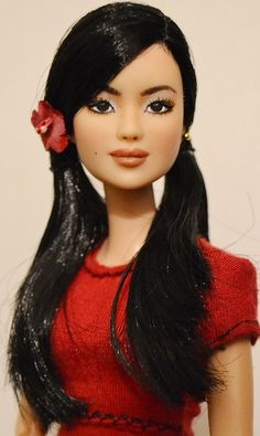 Pan-Pan: Asian Made to Move Barbie Repaint OOAK by DollAnatomy | Flickr - Photo Sharing!