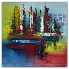 Seattel abstrakt bild gemälde kunst online handgemalt künstler