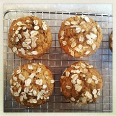 Vegan Applesauce Oatmeal Lactation Muffins (refined sugar free, easily gluten-free) - great for nursing moms and the whole family!