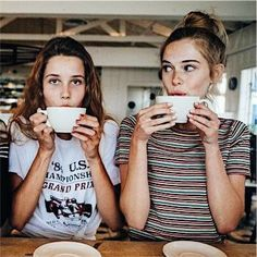 all day everyday Bff Pics, Bff Pictures, Best Friend Pictures, Friend Photos, Cute Photos, Best Friend Fotos, Friendship Photoshoot, Coffee Shop Photography, Cute Coffee Shop