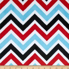 Minky+Cuddle+Zig+Zag+Turquoise/Red/Black from @fabricdotcom  This+Minky+Cuddle+Chevron+fabric+has+an+extremely+soft+3mm+pile+that's+perfect+for+baby+accessories,+blankets,+throws,+pillows+and+stuffed+animals.+Colors+include+red,+black,+turquoise+and+snow+white.