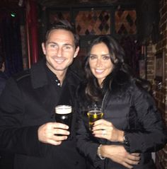 Cheers! Frank Lampard and Christine Bleakley looked happier than ever as they marked the TV presenter's 37th birthday this week