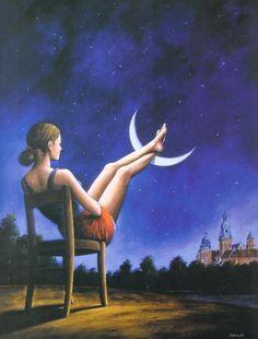 'Third Dimension of Time' by Rafal Olbinski
