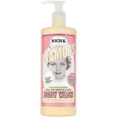 Soap & Glory Rich & Foamous Dual-Use Shower & Bath Body Wash, Almond,... ($10) ❤ liked on Polyvore featuring beauty products, bath & body products, body cleansers, beauty and soap & glory