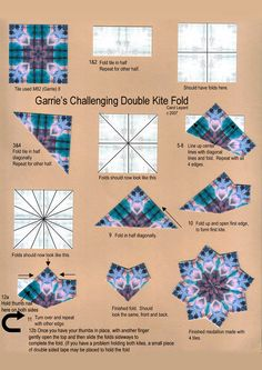 Teabag Fold Instructions - Garrie's Challenging Double Kite Fold