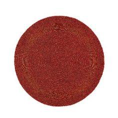 Rojo con cuentas manteles hogar decoraciones partido hecho a mano por el artesano: Amazon.es: Hogar