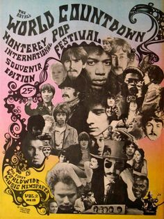 Vintage Concert Posters, Vintage Posters, Pop Rock, Rock And Roll, Monterey Pop Festival, Pop Art, Rock Festivals, Rock Posters, Art Posters
