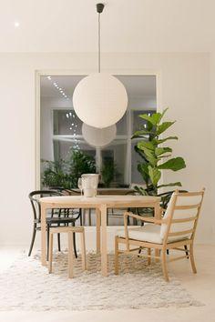 Skandinavischer Wohnstil Wohnung Einrichten Gemütliche Weihnachten Esszimmer Zuhause Tisch Essen
