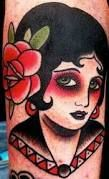 Image result for old school portrait tattoo