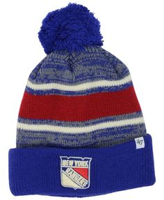 47 Brand New York Rangers Fairfax Pom Knit Hat Knit Hat For Men 6b688a0756a