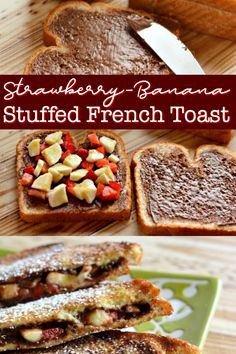 SO EASY & SO GOOD! Strawberry-Banana Stuffed French Toast, the decadence breakfast deserves without the fuss. Find out how to make this Stuffed French Toast in under 30 mins. #breakfast #frenchtoast #yummy #stuffedfrenchtoast