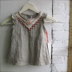 Custom Linen Tea Party Tunic in your size an color., via Etsy.