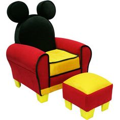 Disney Mickey Mouse Icon Toddler Chair U0026 Ottoman   Harmony Kids   Furniture    FAO Schwarz® Jonah Needs This!