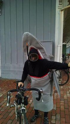 shark eating scuba diver