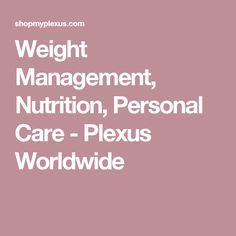 Weight Management, Nutrition, Personal Care - Plexus Worldwide