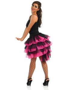 Accessory Pink Black Feather Tail Burlesque Tutu Fancy Dress BallBustle SkirtBlack