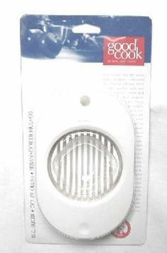 GC Tools and Gadgets Egg Slicer by Bradshaw International. $6.65. Stainless steel wires cut clean, even slices. Good cook brand. Contemporary abs plastic frame holds hard-boiled egg. Egg slicer contemporary ABS plastic frame holds hard-boiled egg. Stainless steel wires cut clean, even slices.