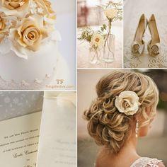gorgeous spring wedding in white & ecru #wedding #spring #white #ecru #weddingthemes