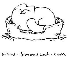 simon cat free coloring pages - photo#17