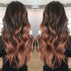 Pinterest: dopethemesz ; rose gold/copper dreams ; my rose gold balayage