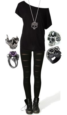 """Skulls"" by bvb3666 ❤ liked on Polyvore"