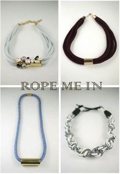 rope necklaces #fashion #DIY