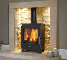 4.9KW Flavel Arundel Multifuel Stove | Buy Modern Multi Fuel Stoves Online | UK Stoves I BOUGHT IT! Care lots of ash when opening door! Very messy!